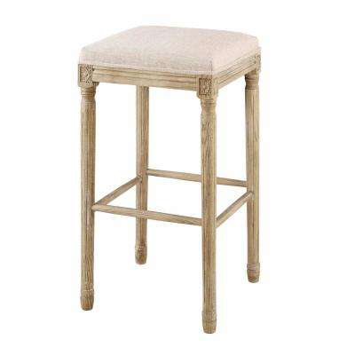 Smith Collection 30 in. Natural Backless Bar Stool