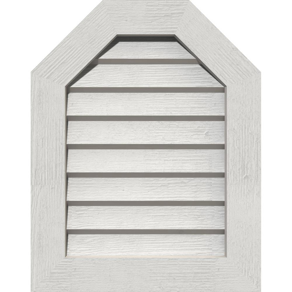 Ekena Millwork 17 X 17 Octagon Primed Rough Sawn Western Red Cedar Wood Gable Louver Vent Non Functional Gvwot12x1602rdpwr The Home Depot