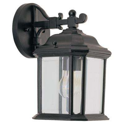 Kent 1-Light Black Outdoor Wall Fixture