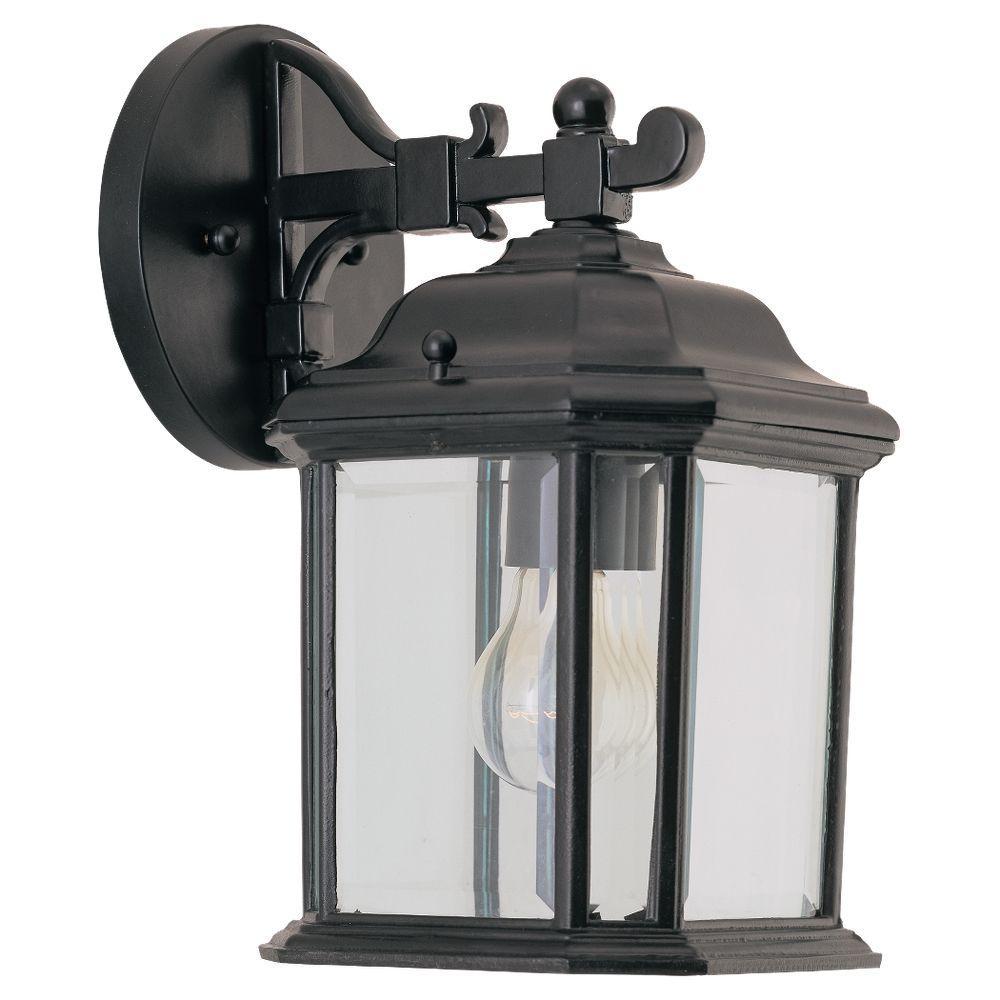 Kent 1-Light Black Outdoor Wall Lantern Sconce