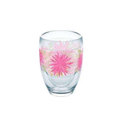 Pink Mums 9 oz. Double-Walled Tritan Stemless Wine Glass