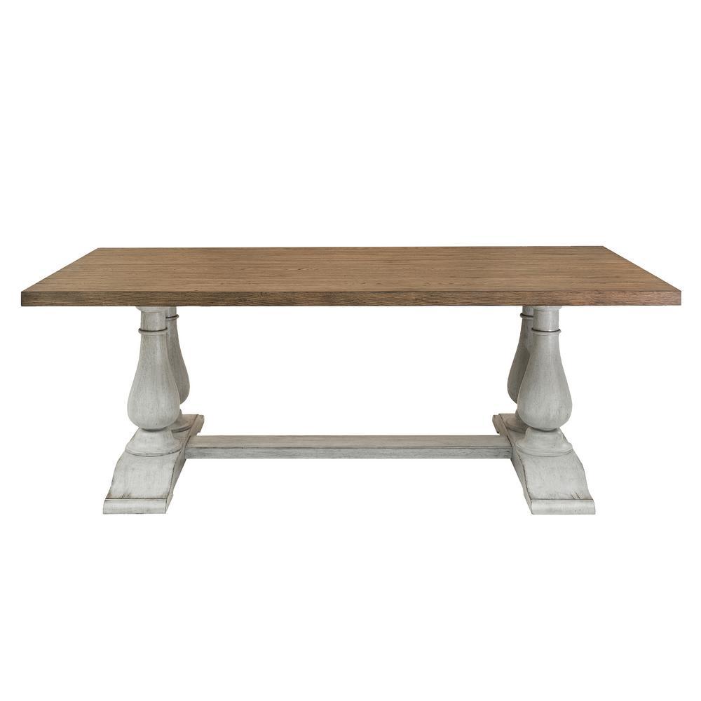 Light Oak Pedestal Dining Table