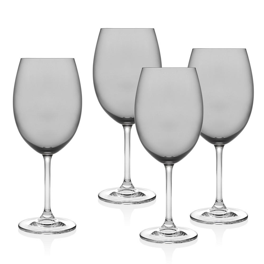Meridian 12 oz. Smoke White Wine Glass Goblet (Set of 4)