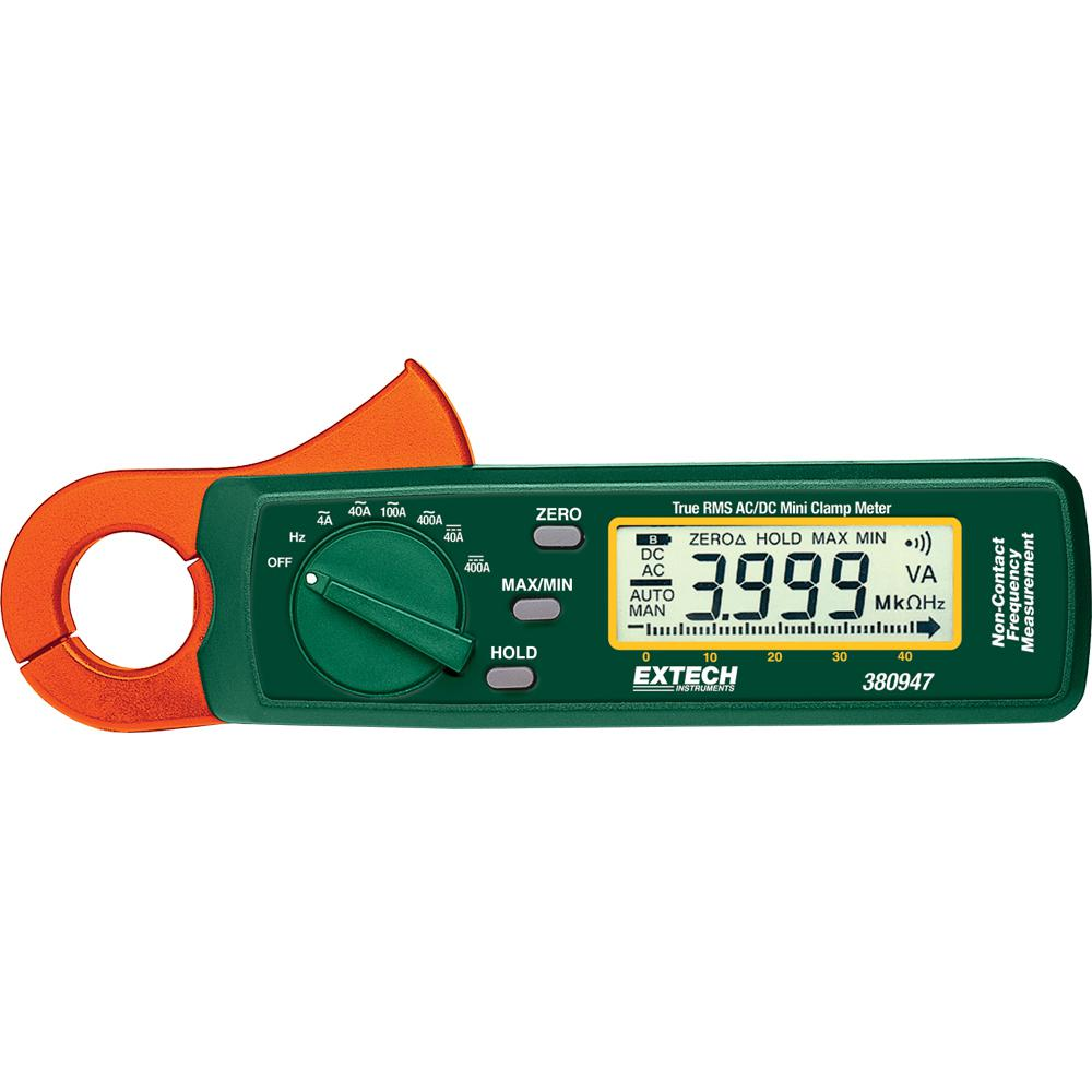 Extech Instruments 400 Amp True RMS AC/DC Mini Clamp on Meter with High Current Resolution and NIST