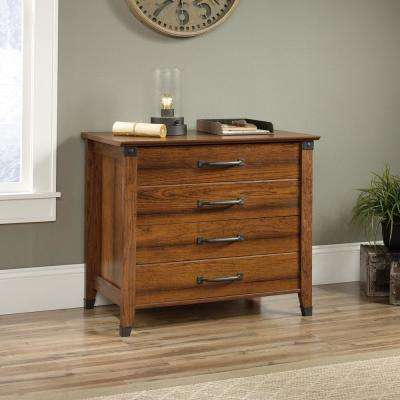 Carson Forge Washington Cherry Lateral File Cabinet With 2 Drawers