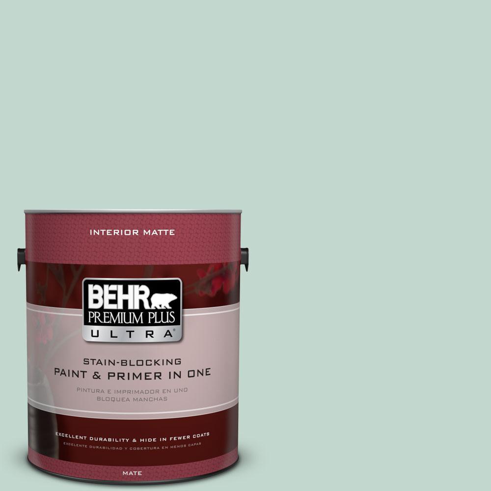 1 gal. #470E-3 Aqua Smoke Flat/Matte Interior Paint