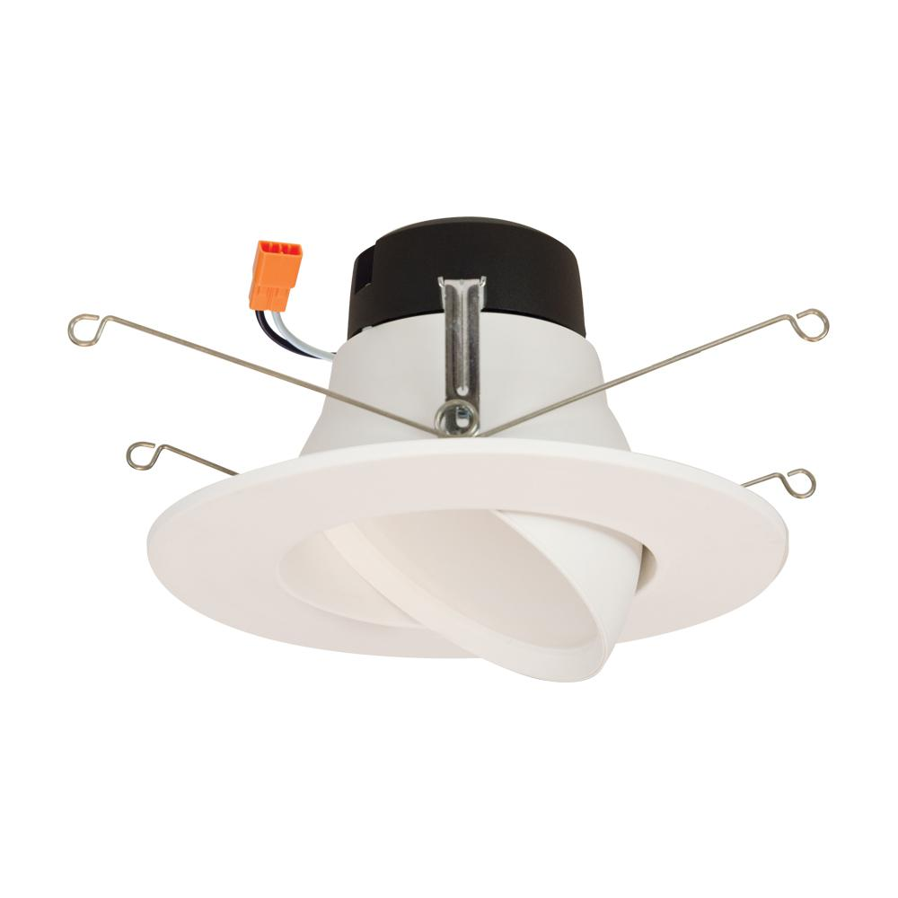 Halo La 5 In And 6 White Integrated Led Recessed Ceiling Light Fixture