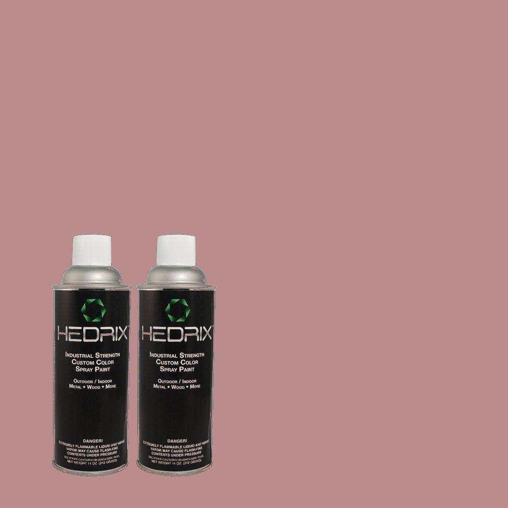 Hedrix 11 oz. Match of 1620 Mystic Mauve Semi-Gloss Custom Spray Paint (2-Pack)