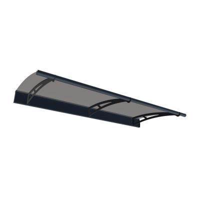 Aquila 2050 6 ft. 9 in. Door Canopy Awning Plus Siding connector Kit in Solar Gray