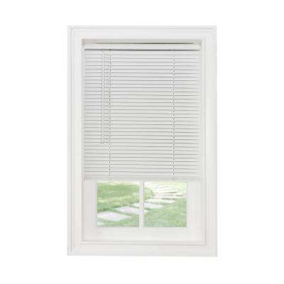 45 in  W x 64 in  L White Cordless 1 in  Light Filtering Vinyl Blind