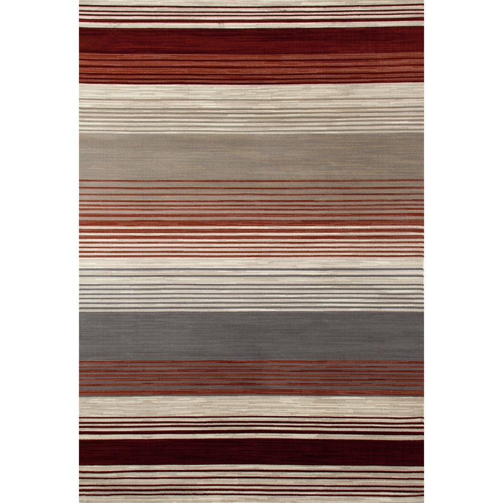 Bastille Heathered Stripe Red 7 ft. x 10 ft. Area Rug