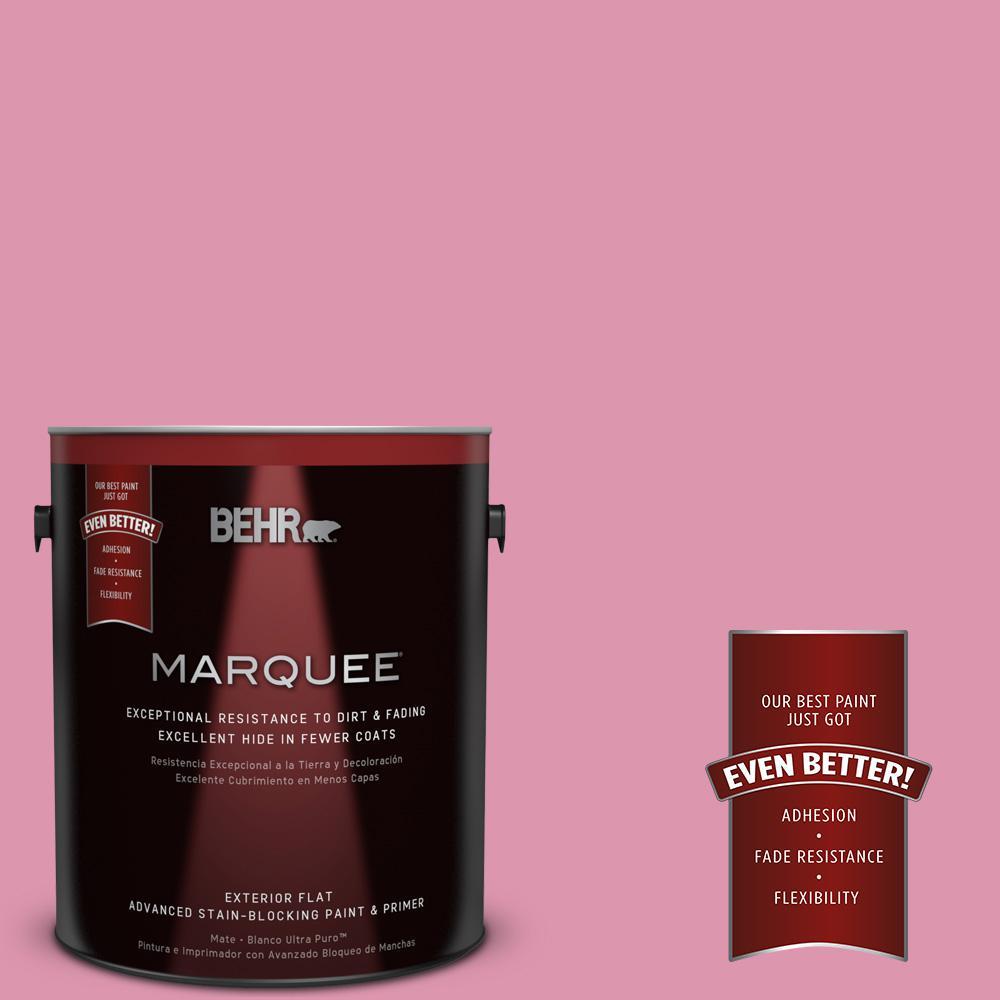 1-gal. #110B-4 Foxy Pink Flat Exterior Paint
