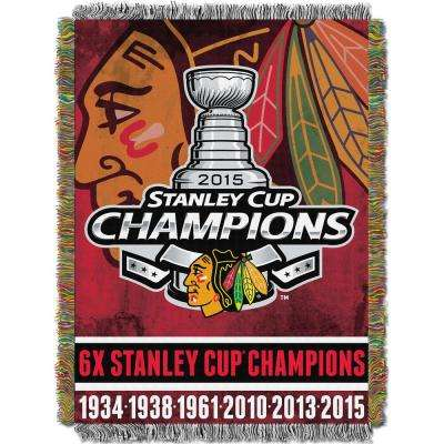 Blackhawks Multi Color Commemorative Tapestry Throw