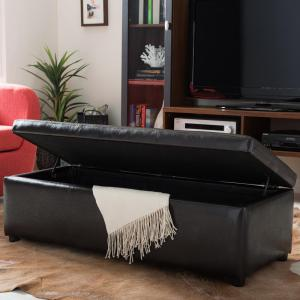 Baxton Studio Dennehy Dark Brown Storage Bench by