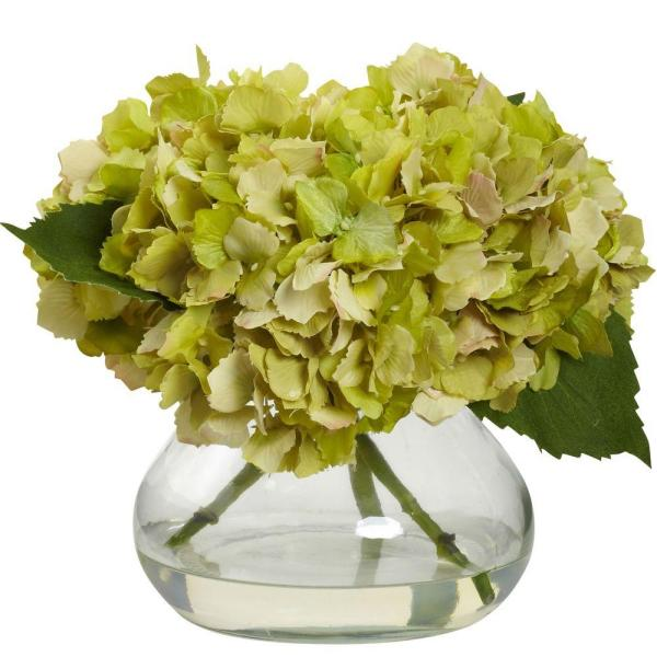 Nearly Natural Large Blooming Hydrangea With Vase 1357 Gr The