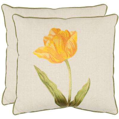 Meadow Floral Embroidered Pillow (2-Pack)