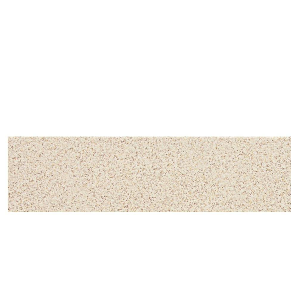 Daltile Colour Scheme Biscuit Speckled 3 in. x 12 in. Porcelain Bullnose Floor and Wall Tile