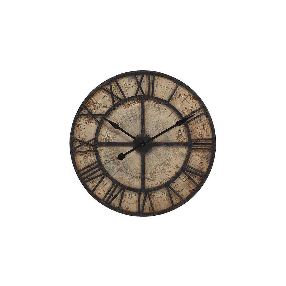 Mapa Beige Distressed Wall Clock