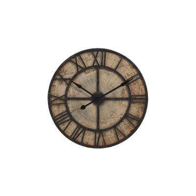 Mapa Beige Distressed Wall Clock