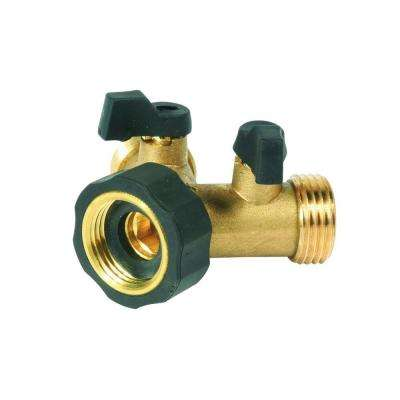 Brass Shut-Off Y Valve