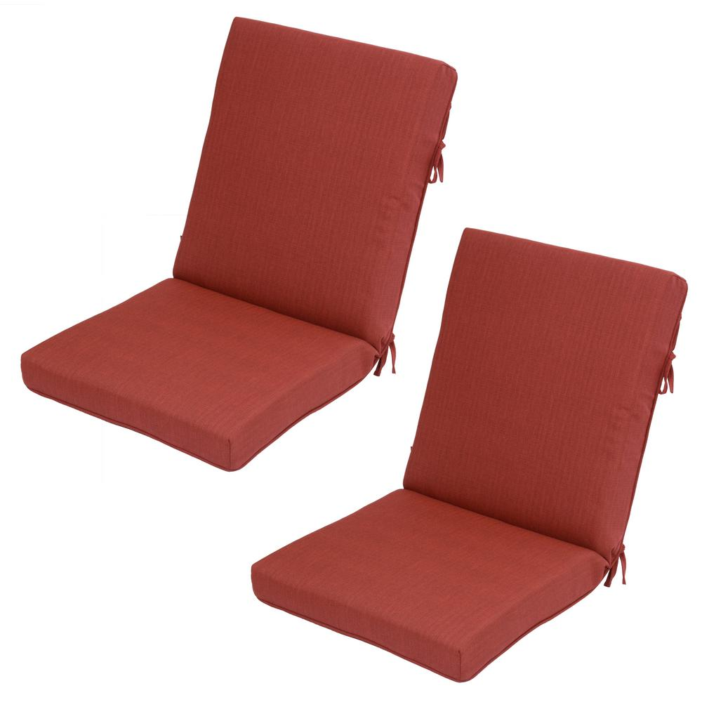 Chili Texture Outdoor Dining Chair Cushion (2-Pack)