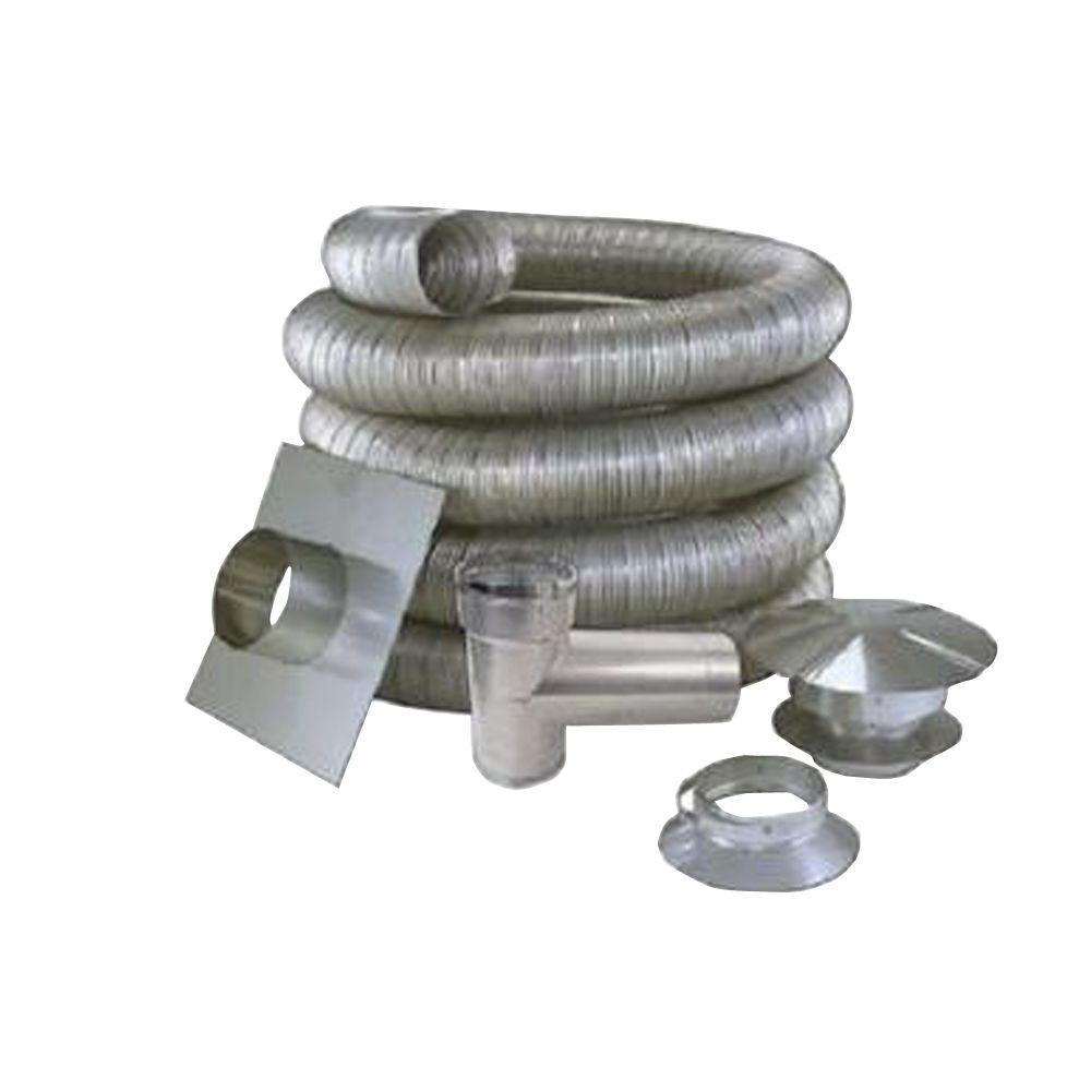 4 in. x 25 ft. All Fuel Stainless Steel Kit
