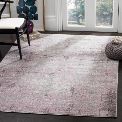 Adirondack Light Gray/Purple 9 ft. x 12 ft. Area Rug