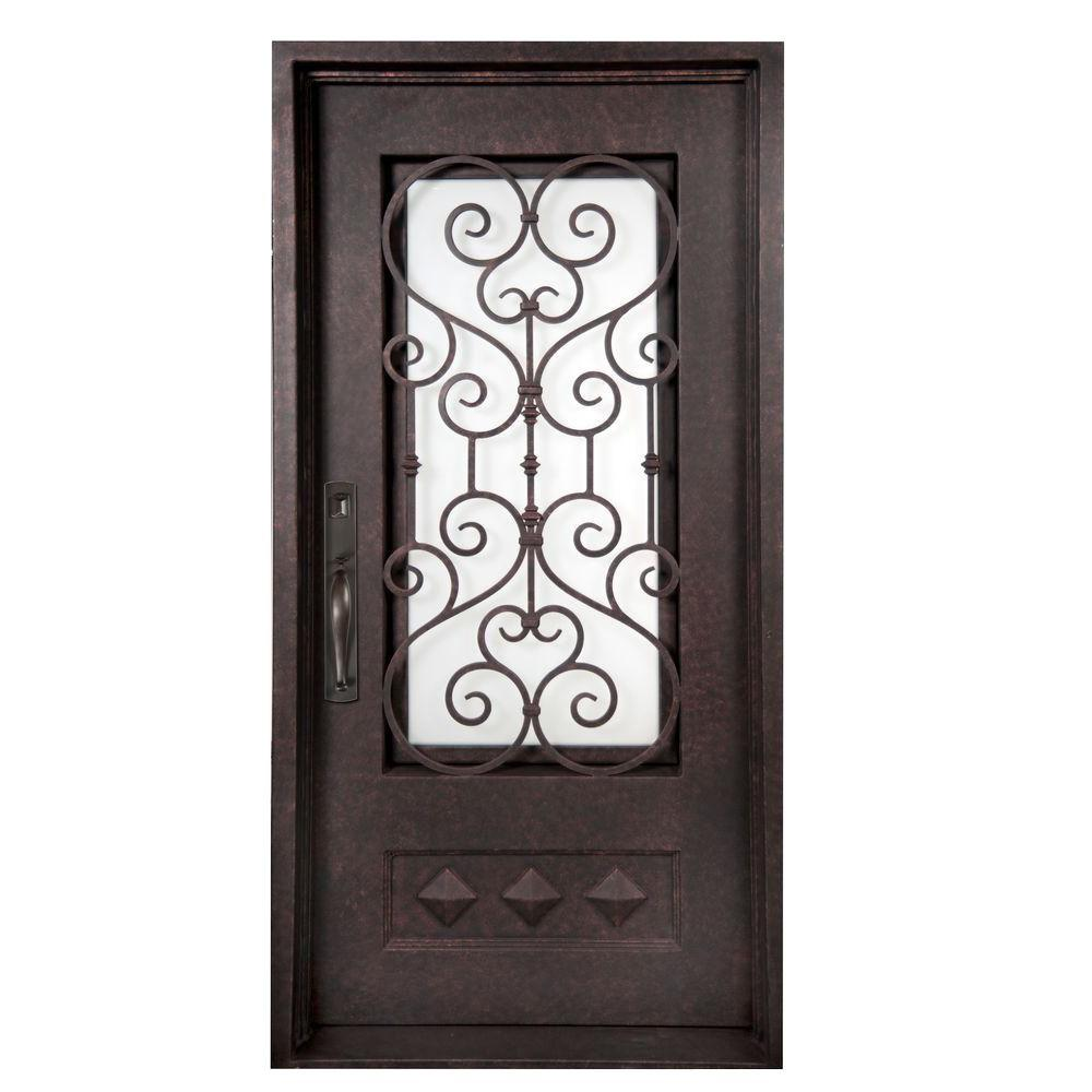 iron doors unlimited 37 5 in x 81 5 in vita francese classic 3 4
