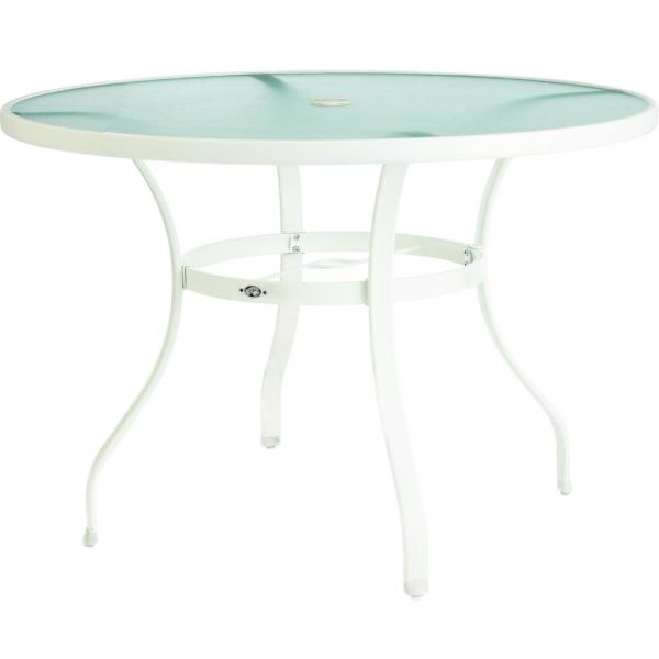 White Round Gl Outdoor Patio Dining
