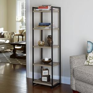 Household Essentials Ashwood 5 Shelf Storage Tower
