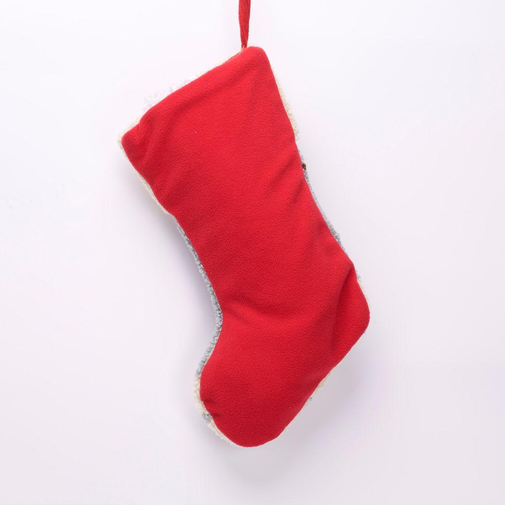 Cat Christmas Stockings.Glitzhome 19 In Polyester Acrylic Hooked Christmas Stocking With Cat Image