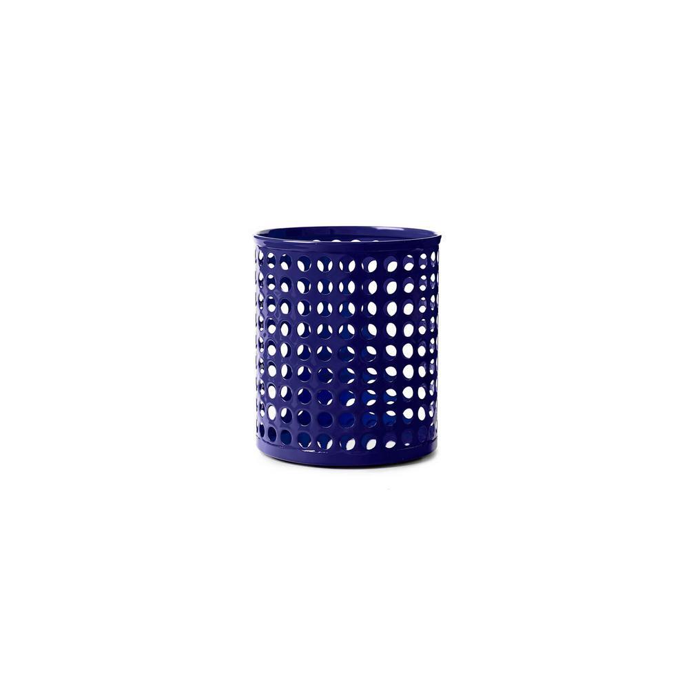 Design Ideas Edison Metal Pencil Cup, Navy 3434803
