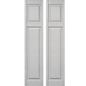 Cottage Style Raised Panel Vinyl Exterior Shutters Pair #