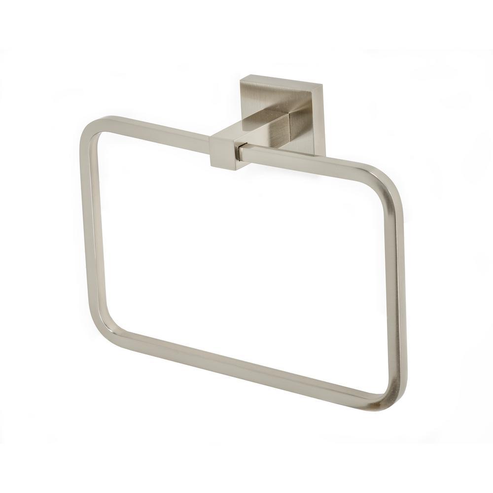 Capri Towel Ring in Brushed Nickel