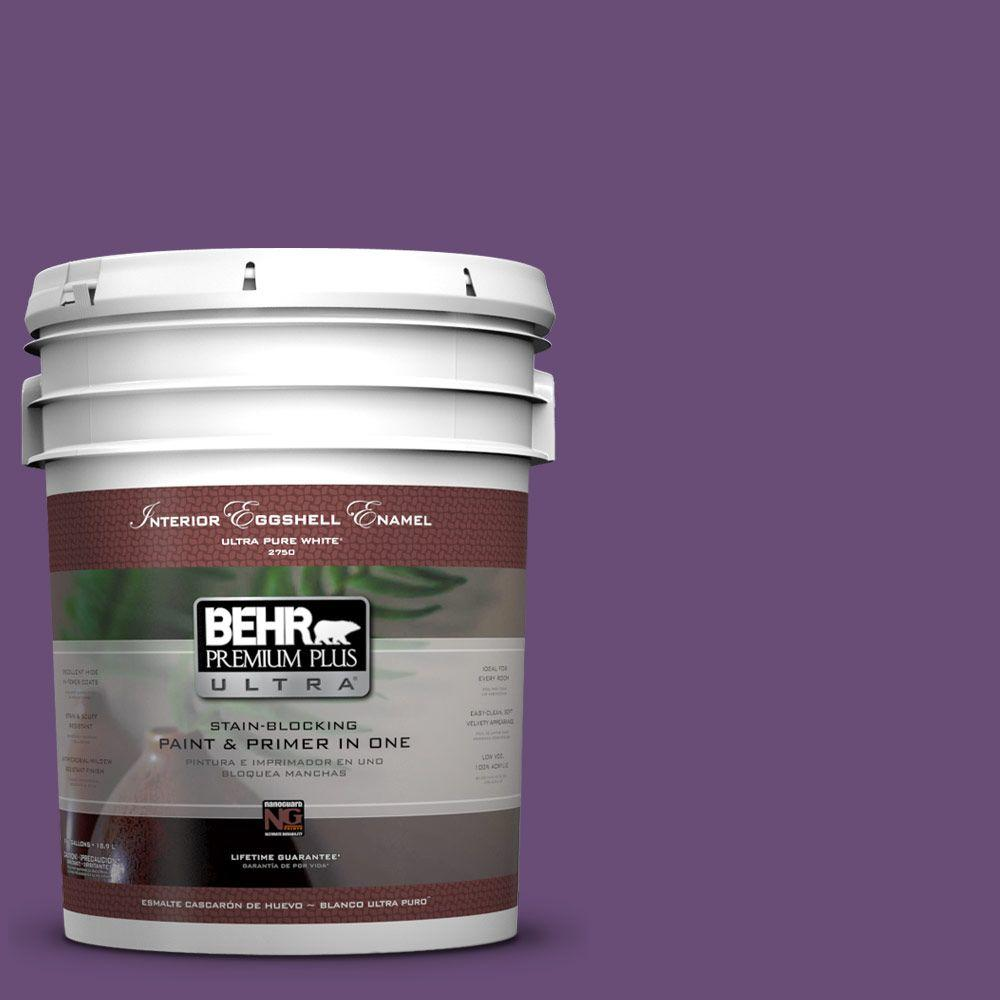 5-gal. #660B-7 Exotic Purple Eggshell Enamel Interior Paint