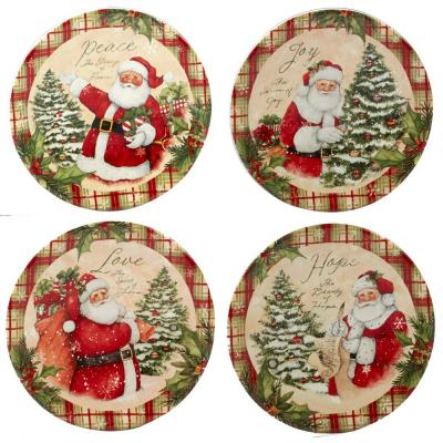 Holiday Wishes by Susan Winget 6 in. Canape Plate (Set of 4)