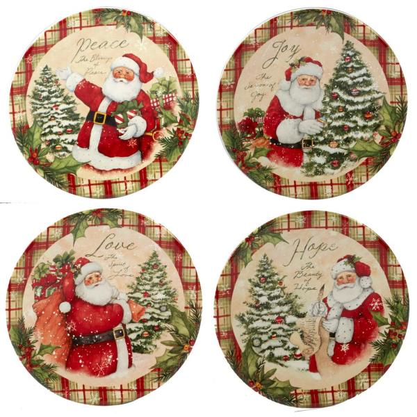 Certified International Holiday Wishes by Susan Winget 6 in. Canape Plate
