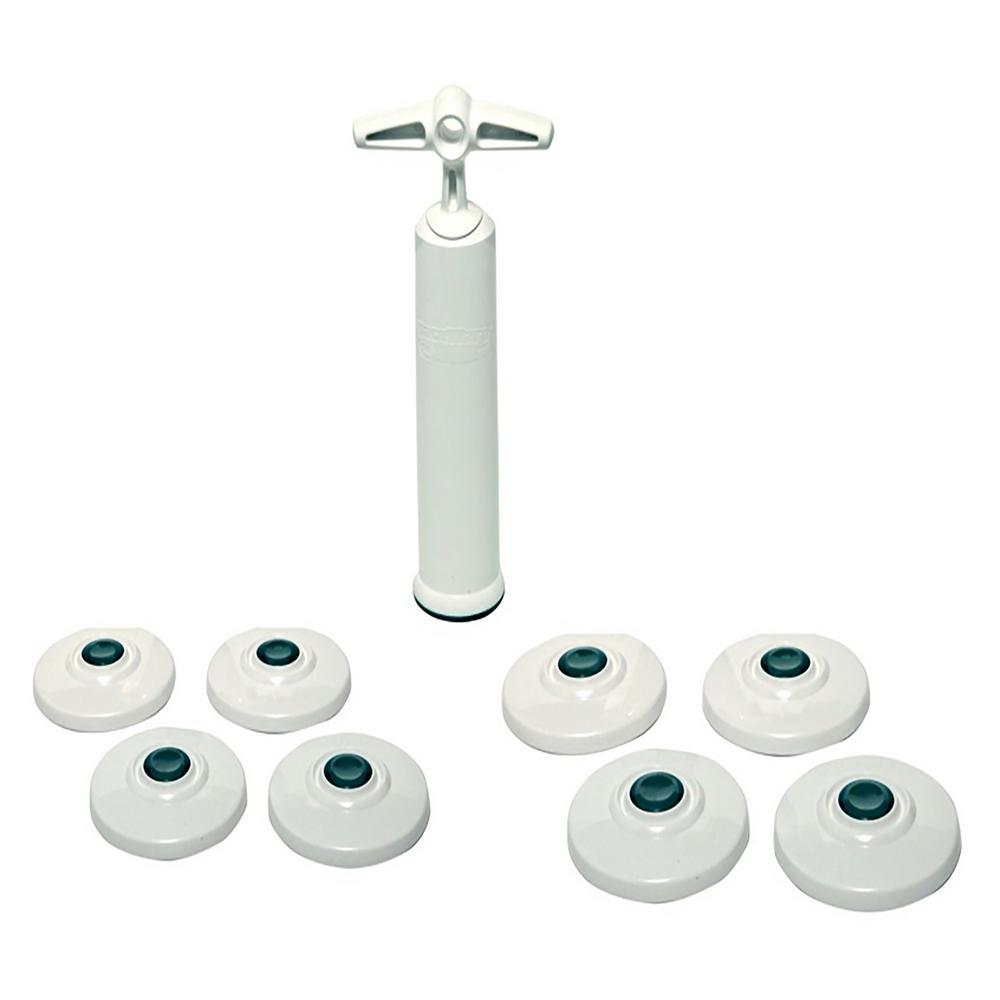 Jar Fresh, Jar Lids and Fresh Pump by Vacuware (8-Pack)