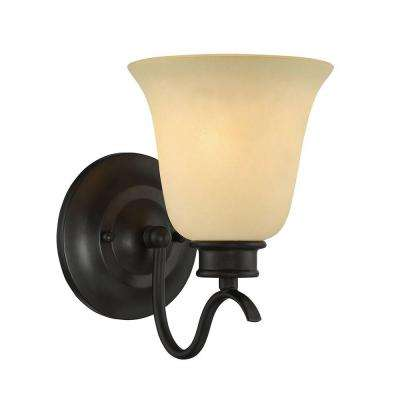 Montego 1-Light Oil Rubbed Bronze Interior Incandescent Bath Vanity Light