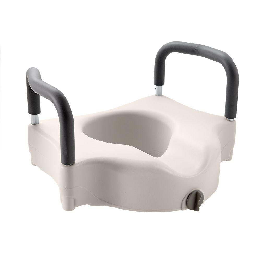 Medline Adjustable Elevated Toilet Seat MDS80316H   The Home Depot