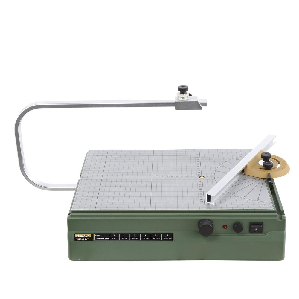 Proxxon Thermo Cut Hot Wire Cutter 110-Volt Lockable Feed Bar Adjustable Holder