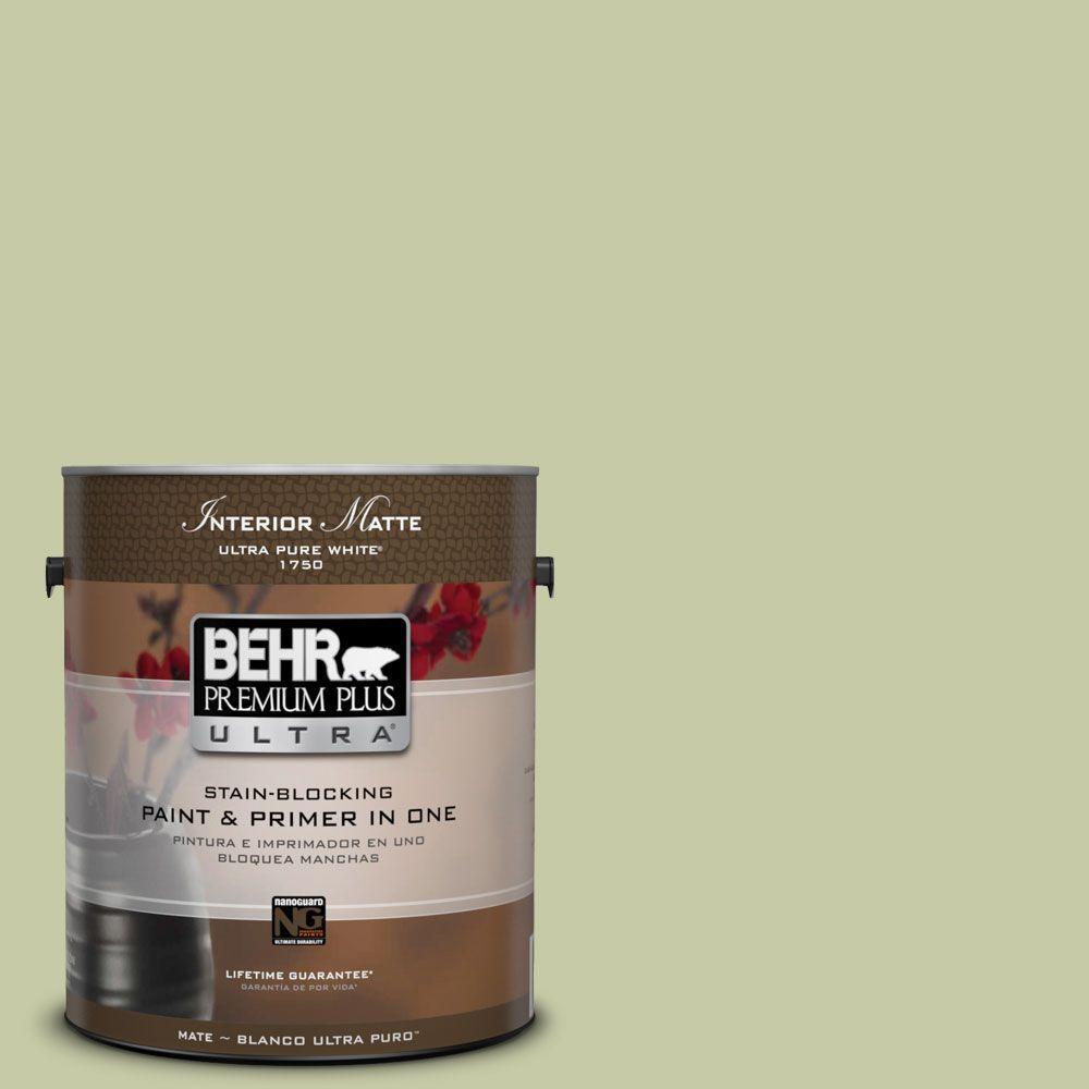 1 gal. #M350-3 Sap Green Matte Interior Paint