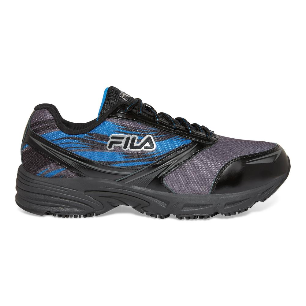 Fila Men's Memory Meiera 2 Slip Resistant Athletic Shoes Composite Toe Black Size 11(M)