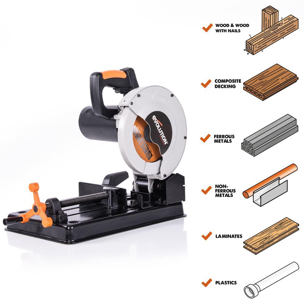 Evolution Power Tools 10 Amp 7-1/4 in. Multi-Purpose Chop Saw