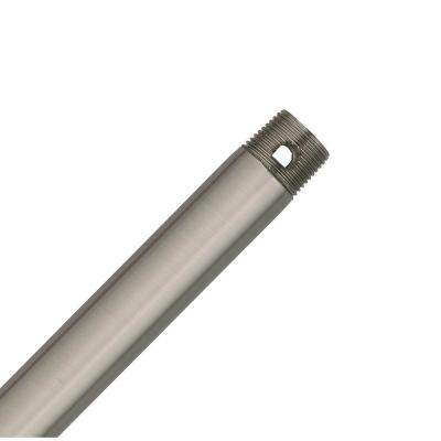 72 in. Polished Nickel Extension Downrod for 15 ft. ceilings