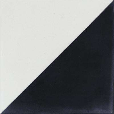 Man Overboard Black and White 7-7/8 in. x 7-7/8 in. Cement Handmade Floor and Wall Tile