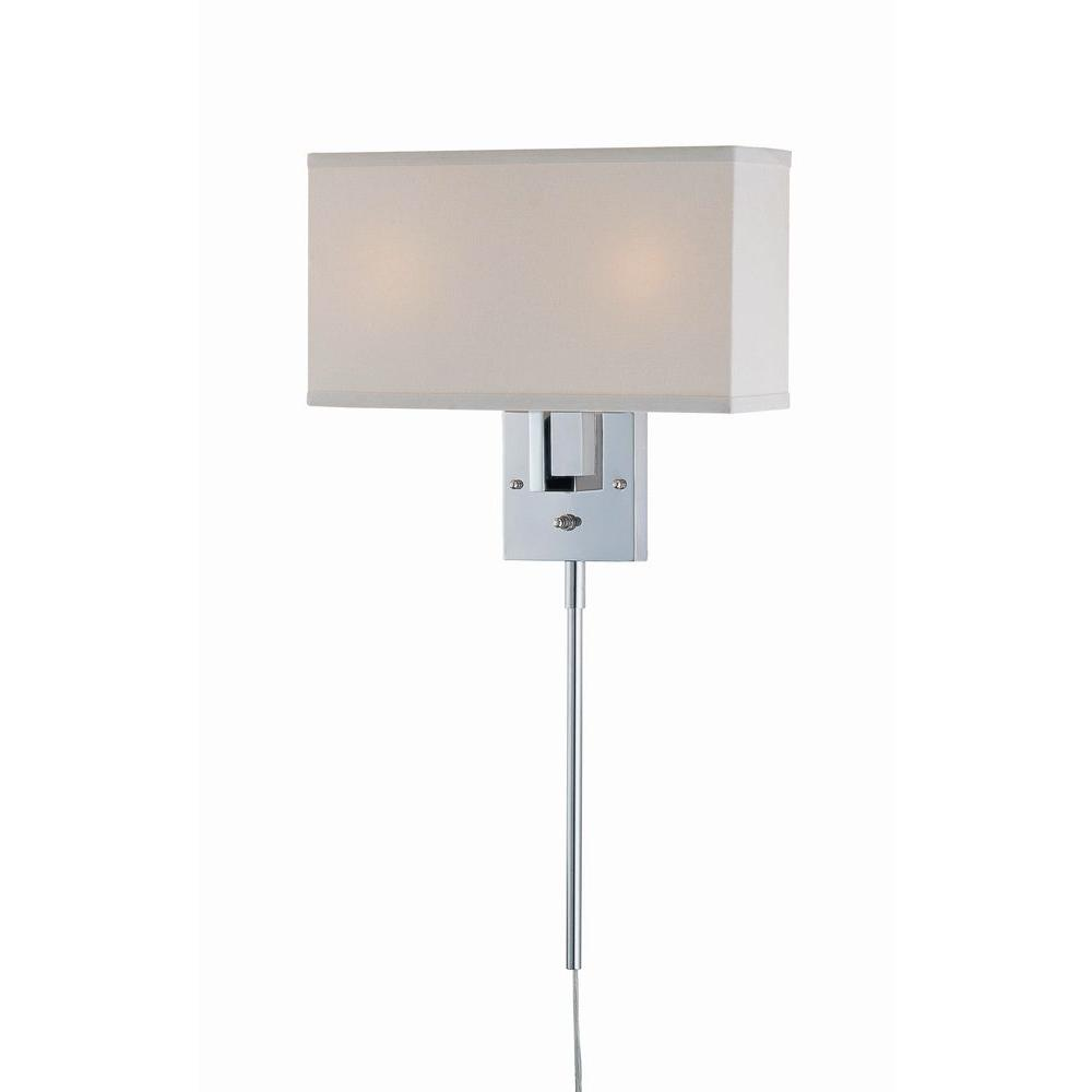 Wall Lamps Chrome : Illumine 2-Light Chrome Wall Lamp-CLI-LS440819 - The Home Depot
