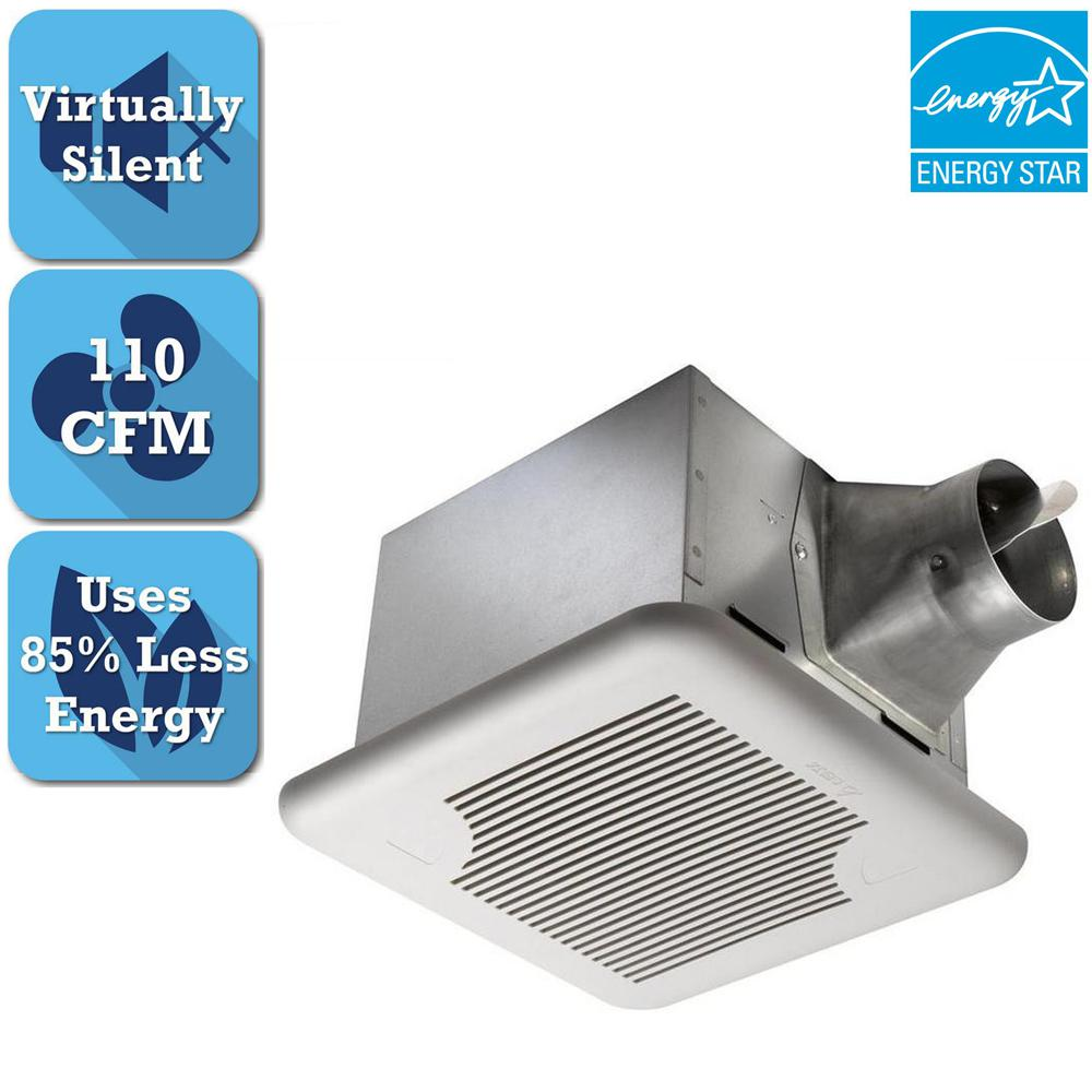 Delta Breez Signature Series 110 Cfm Dual Speed Ceiling Bathroom Exhaust Fan Sig110d The Home