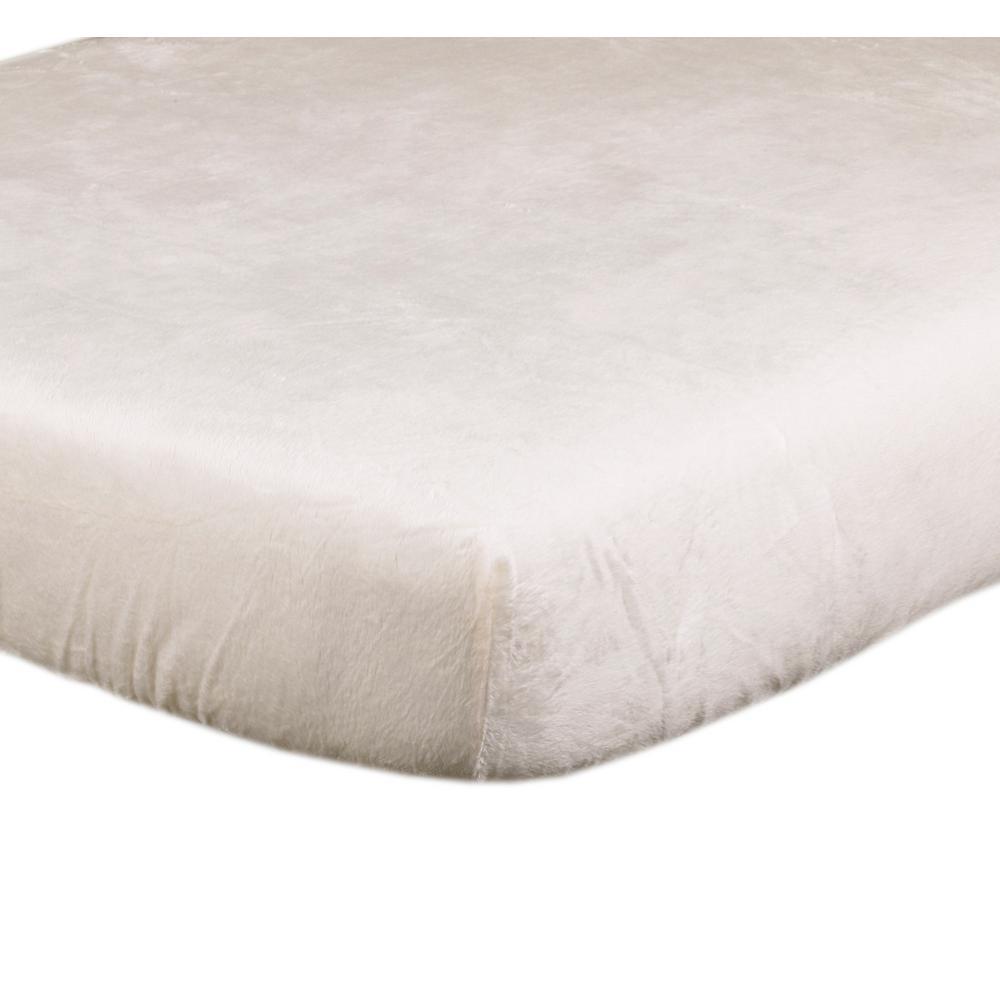 Raspberry Dot Cream Cotton Minky Fitted Crib Sheet