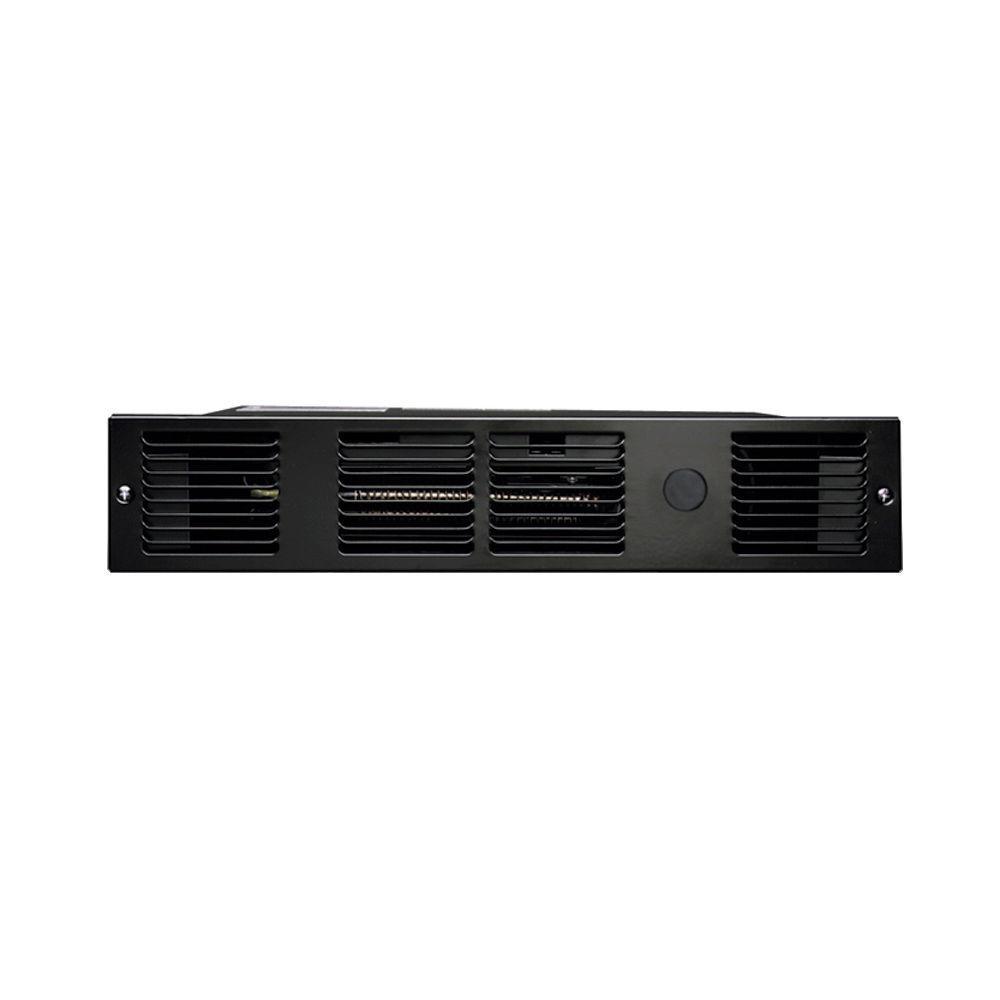 Perfectoe 1,000-Watt 120-Volt Fan-Forced Under-Cabinet Electric Heater in Black